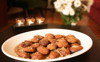 Melomakarona – Greek Honey Cookies with Nuts