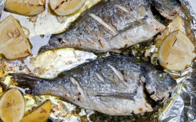 Seabream with capers