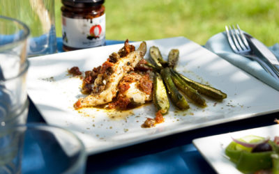 Baked Cod with Sundried Tomatoes